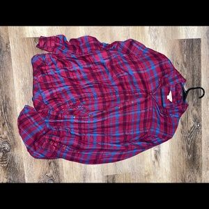 Red and a Blue Lucky Brand flannel